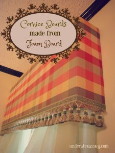 Cornice Boards from Foam Board