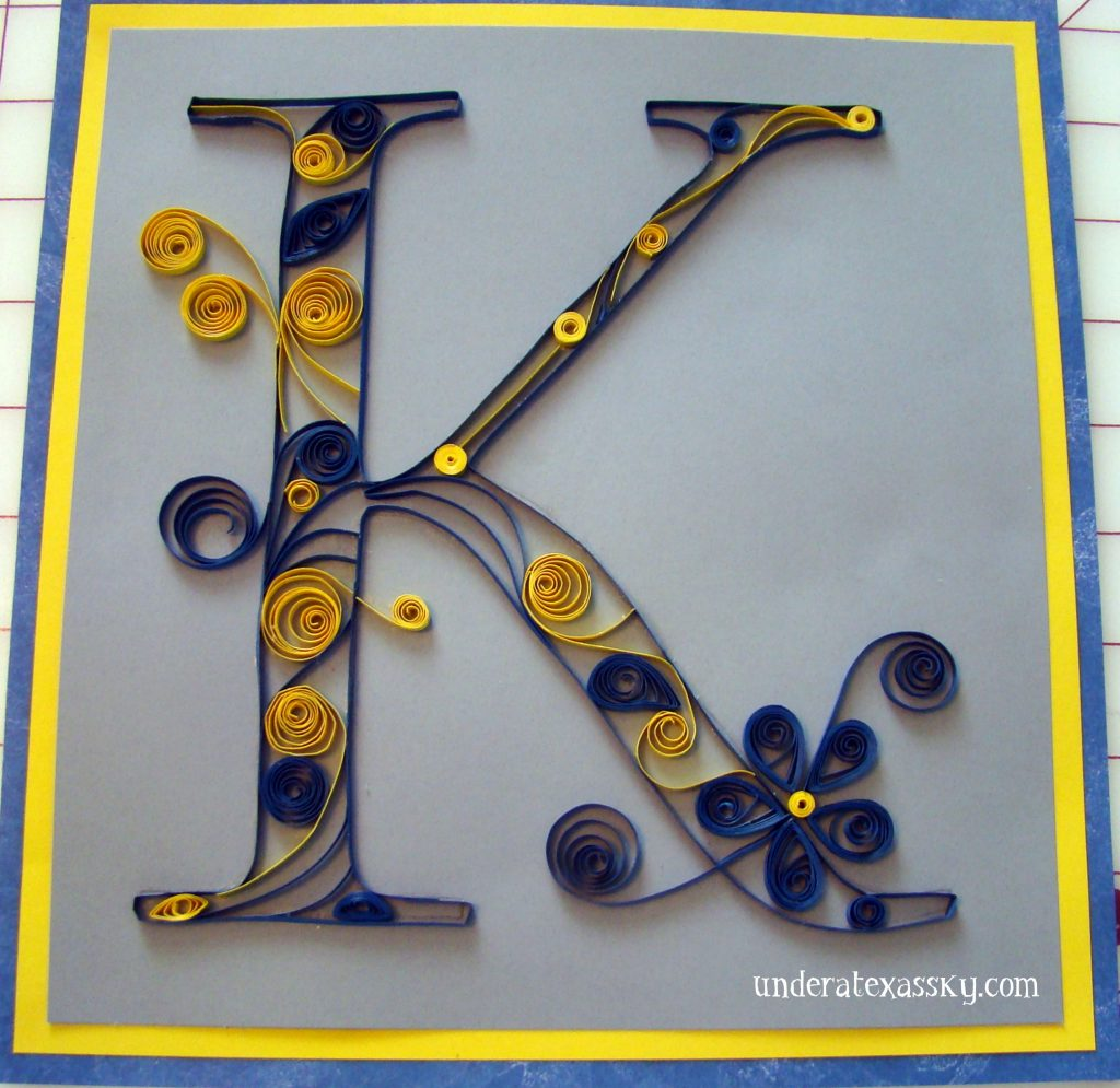 What Is Quilling How To Quill A Monogram