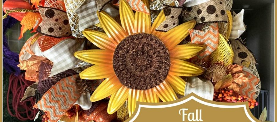 Fall Deco Mesh Wreath Tutorial