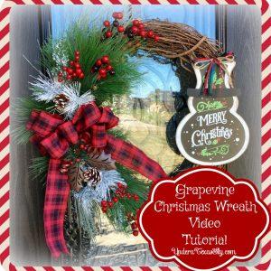 Grapevine Christmas Wreath Tutorial