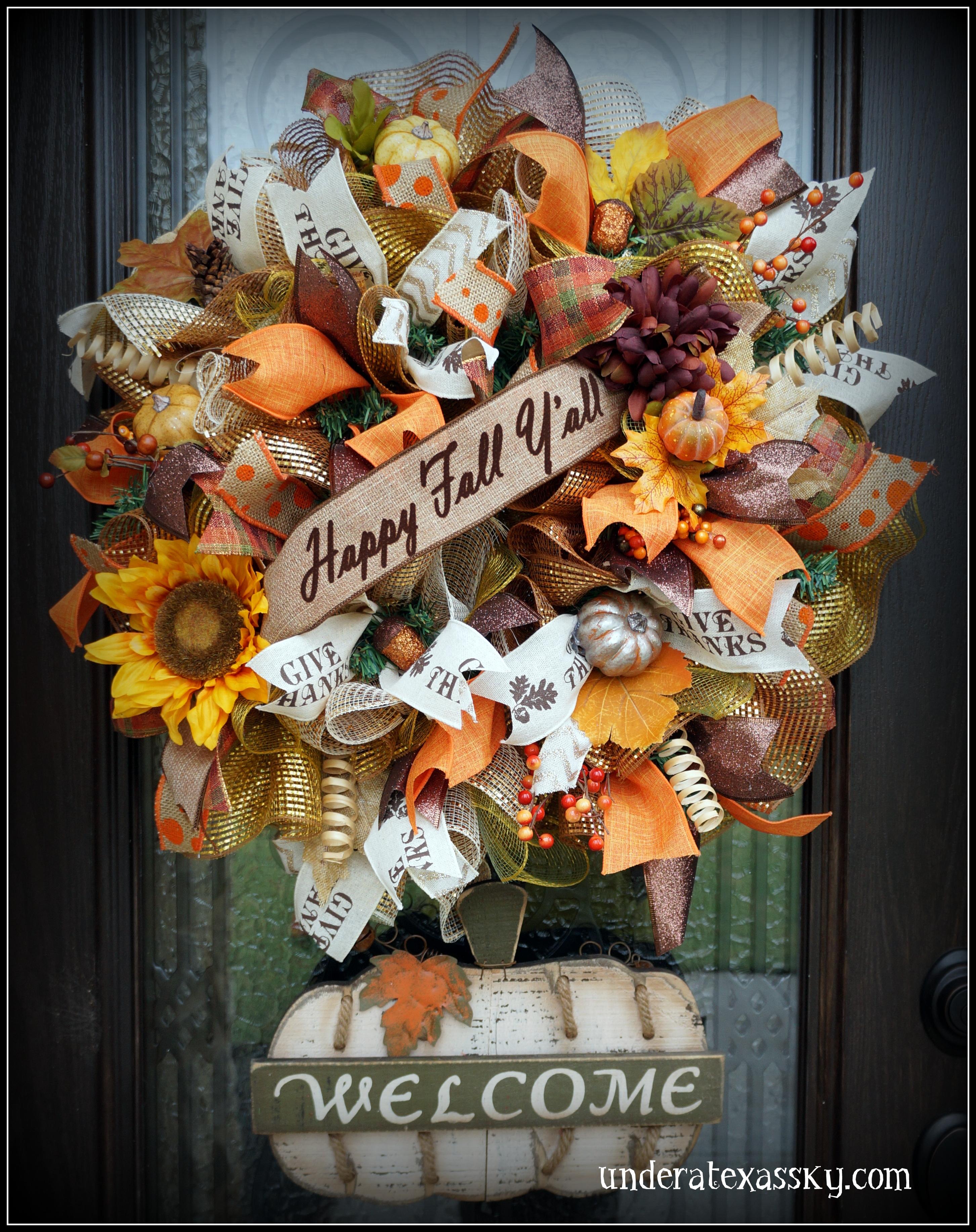 Fall Wreaths Under A Texas Sky