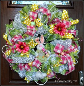 Pink and green Easter Bunny
