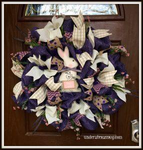 Purple poly burlap