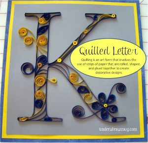 Quilled letter ad