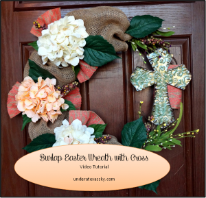 Burlap Easter Wreath ad