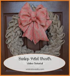 Burlap Petal Wreath Ad