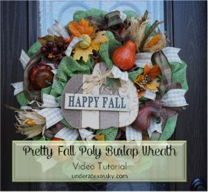 Fall Poly Burlap ad