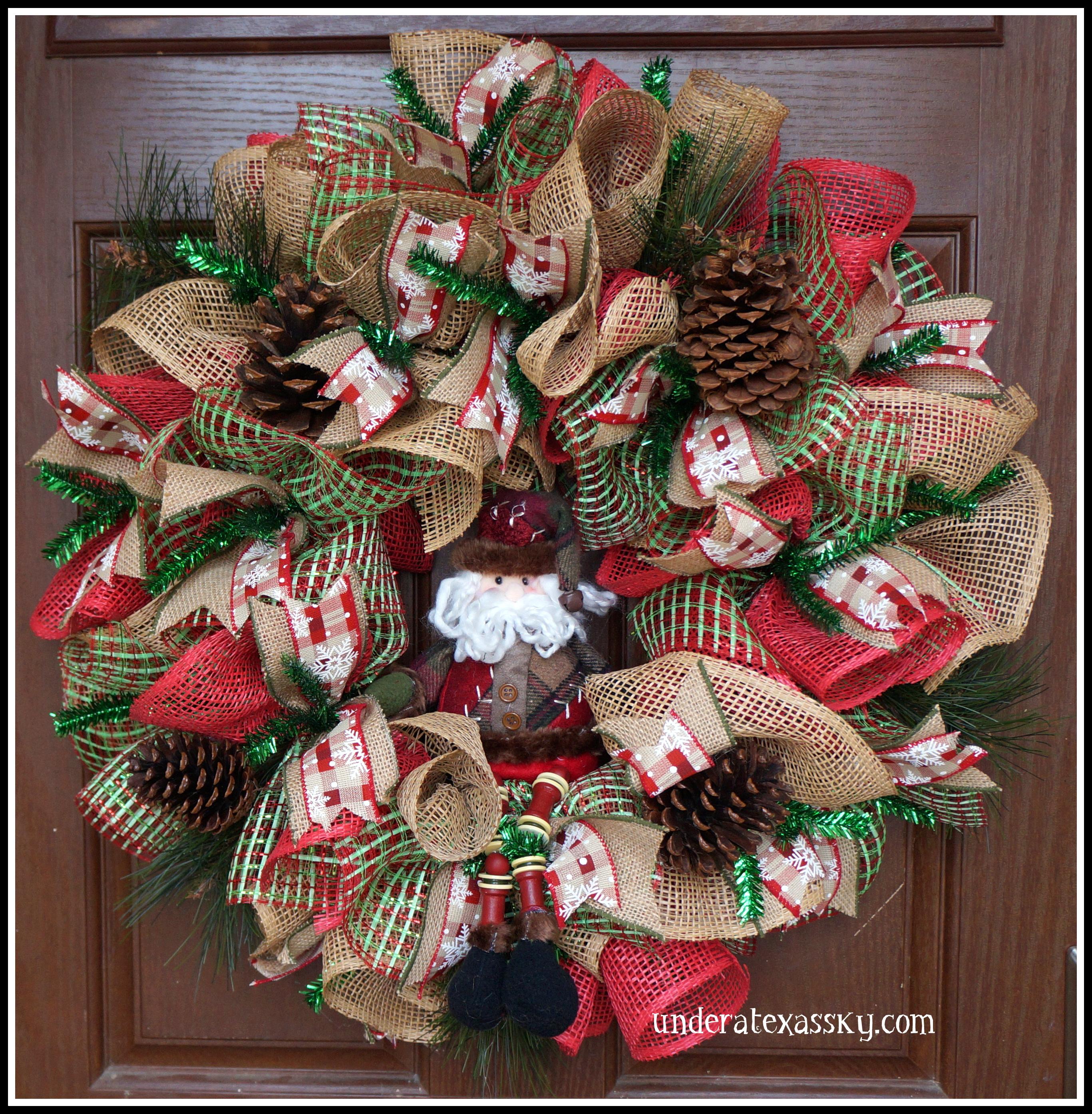 Christmas Wreaths Under A Texas Sky