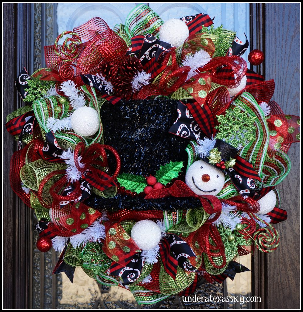 Snowman Hat Wreath