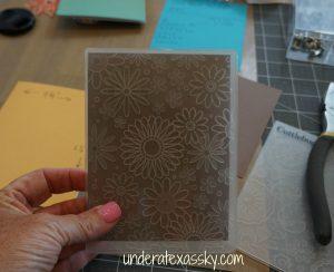 Happy Birthday Card Embossing Folder