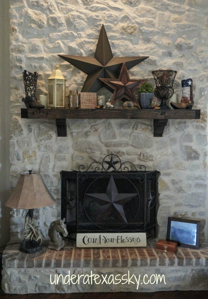 Texas Mantel Decor Under A Texas Sky