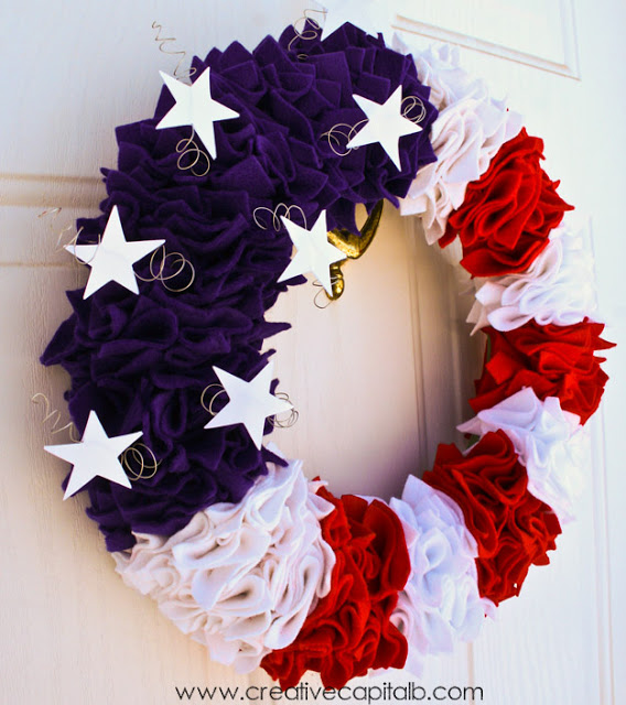 Ruffled Patriotic Wreath Creative Capitalb