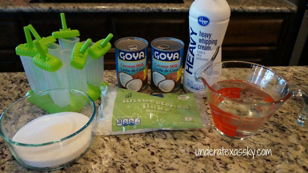 Coconut Popsicle ingredients