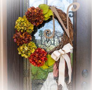 Monogram Grapevine Wreath