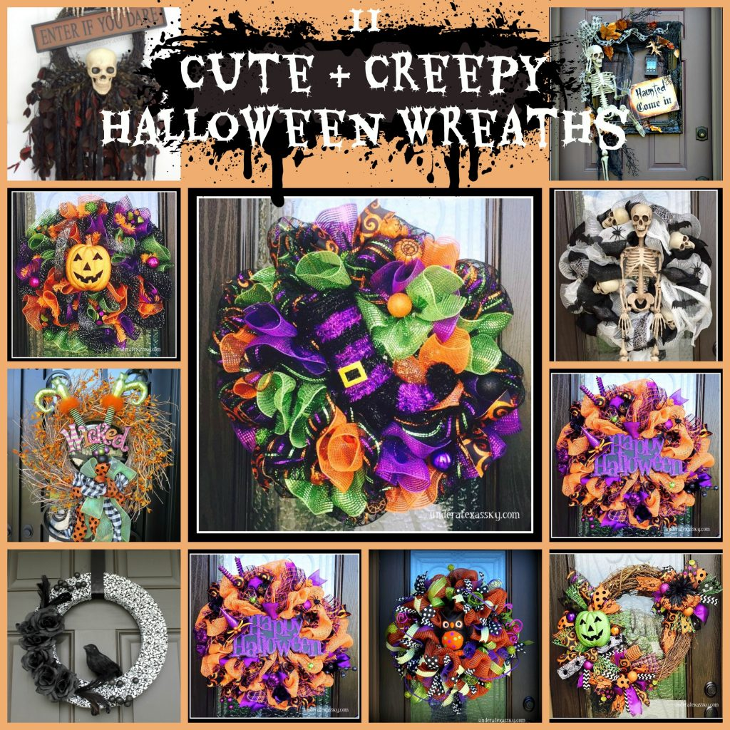 11 Cute and Creepy Halloween Wreaths