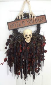 Creepy skull Wreath- made in a day