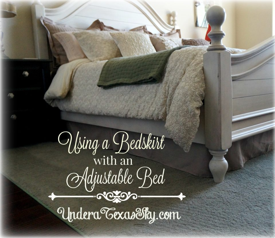 Staircase Remodel: Using A Bedskirt With An Adjustable Bed