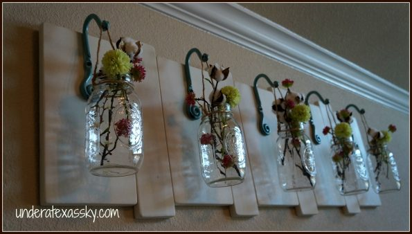 Hanging Mason Jars Wall Art