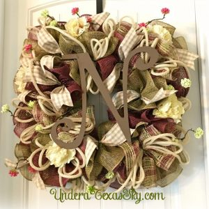 Square Spring Wreath