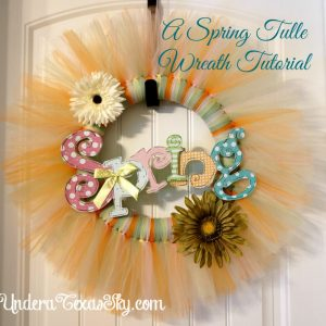 Spring Tulle Wreath Tutorial