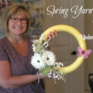 Spring Yarn Wreath Tutorial