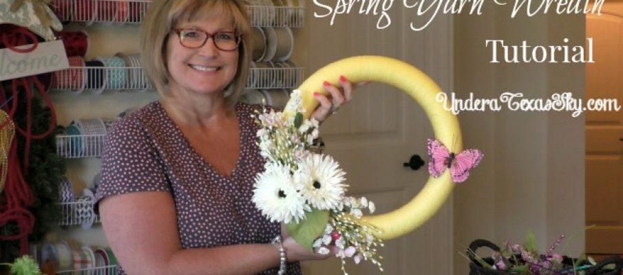Spring Yarn Wreath Tutorial