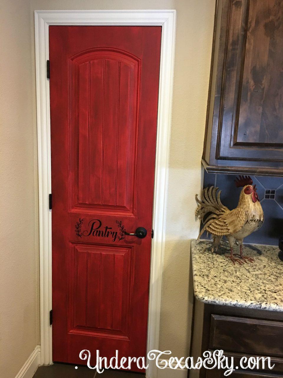 How To Change A Door Knob >> Distressed Pantry Door DIY - Under a Texas Sky