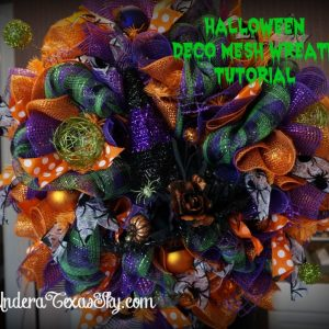 Deco Mesh Halloween Wreath with Witch's Hat Tutorial
