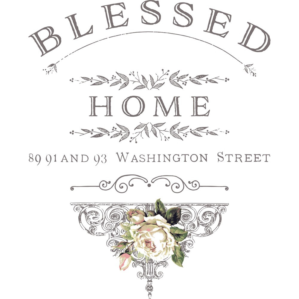 "Blessed Home Decor Transfer - 24.6"" x 30"""