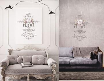 """Redesign Decor Transfer- L'amour Est Le Miel 27"""" x 36"""""""