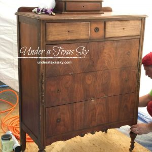 Chest of Drawers Makeover in Dixie Belle Apricot